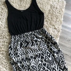 Black and white tank top dress
